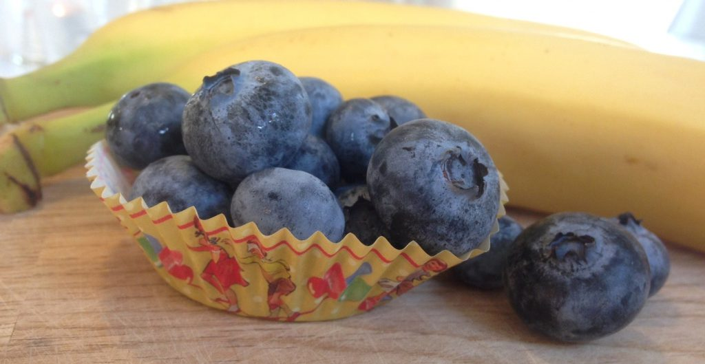 blåbær og banan til muffins