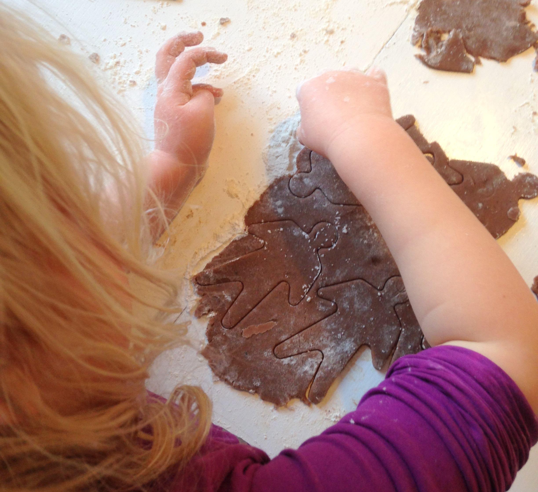 barn laver peberkage figurer
