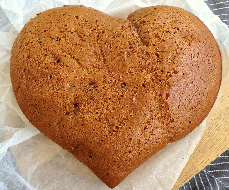 hjerteformet honningkage